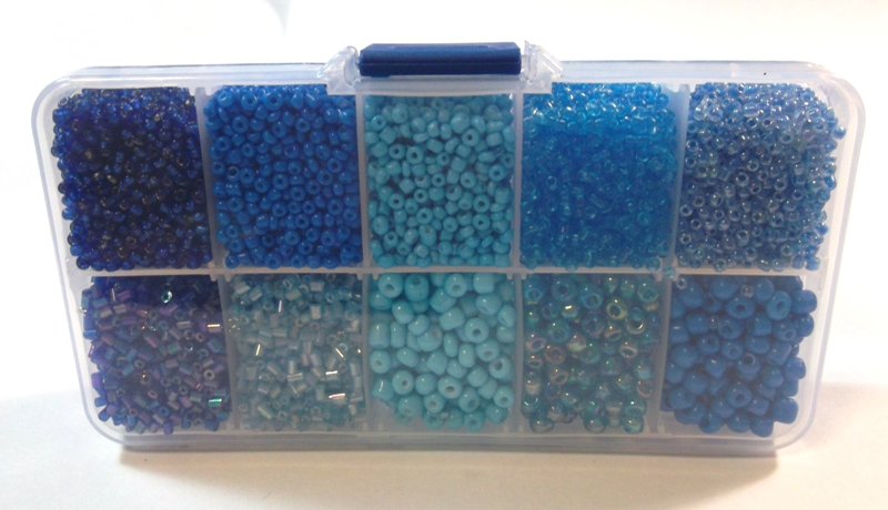 Best Rocailles Beads Tube Shaped Blue Glass 2 3 4 6 Mm