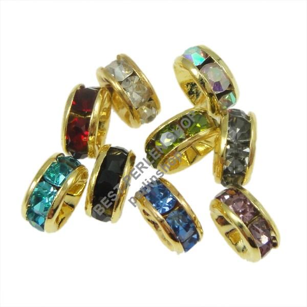 35 metallperlen crystal mehrfarbig strass ring metall. Black Bedroom Furniture Sets. Home Design Ideas