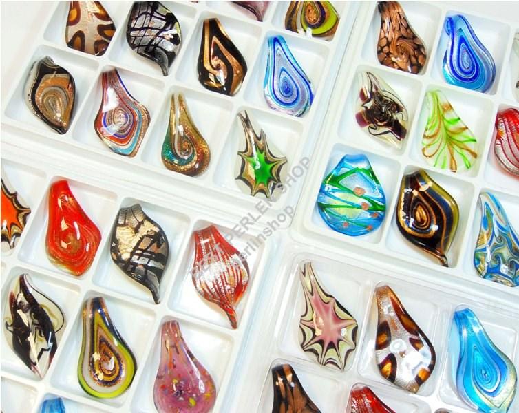 vetro ornamento pendente orecchini lampwork ciondoli best millefiori r275 ebay. Black Bedroom Furniture Sets. Home Design Ideas