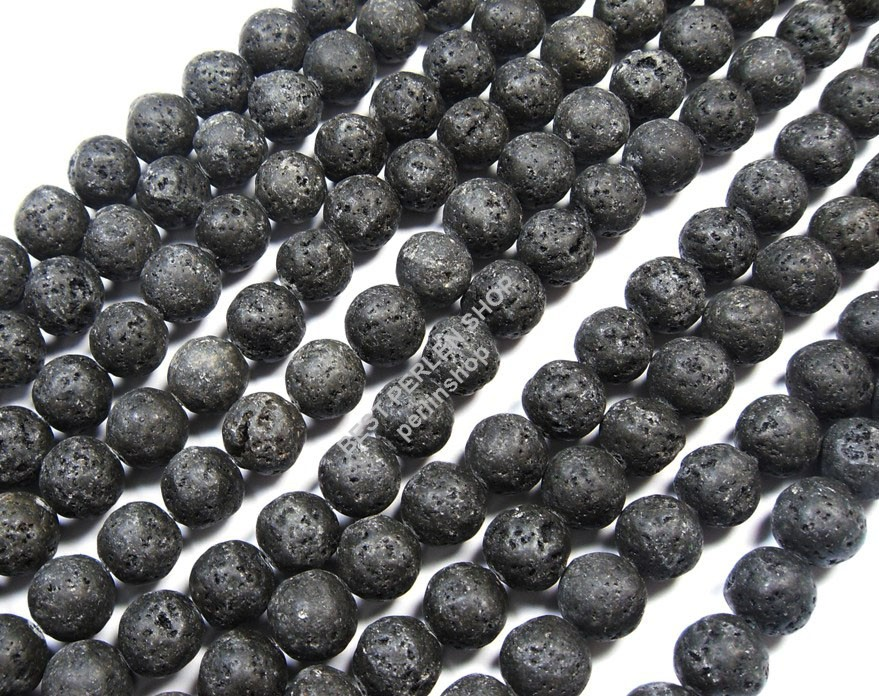 lava perle edelstein pietra naturale gemstone beads nero 10mm circa 40 pezzi l20 ebay. Black Bedroom Furniture Sets. Home Design Ideas