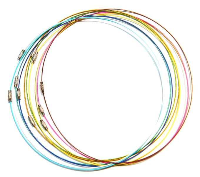 10 edelstahl halskette schmuckteile memory wire. Black Bedroom Furniture Sets. Home Design Ideas