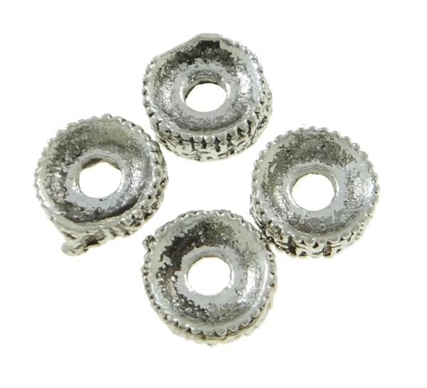 50 perline metallo spacer per tinker ciambella 6mm argento for Creativ bastelkatalog