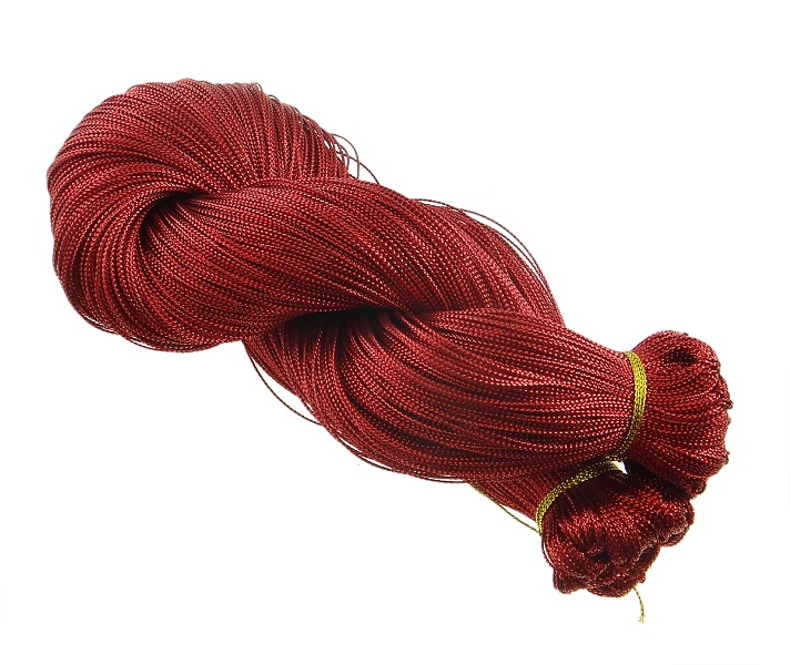 schmuckfaden schmuckschnur schmuckgarn best 50 meter rot yarn cord wire c57 ebay. Black Bedroom Furniture Sets. Home Design Ideas