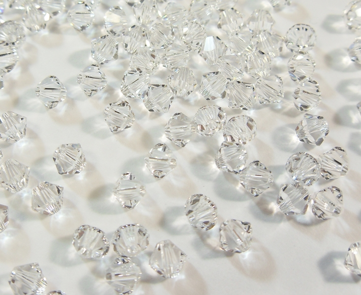 40 Crystal 4mm Swarovski Kristall Perlen 5301 5328