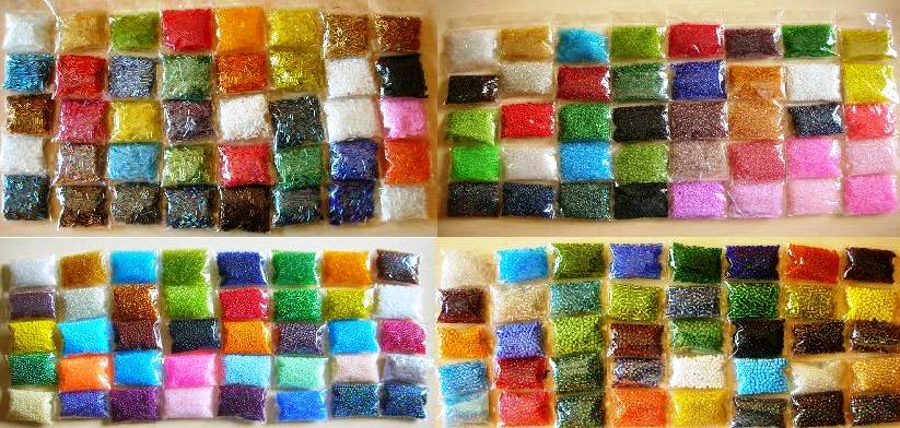 posten 140 pack roccailles glas perlen 2 3 4 6 mm rocailles seed beads rund top ebay. Black Bedroom Furniture Sets. Home Design Ideas