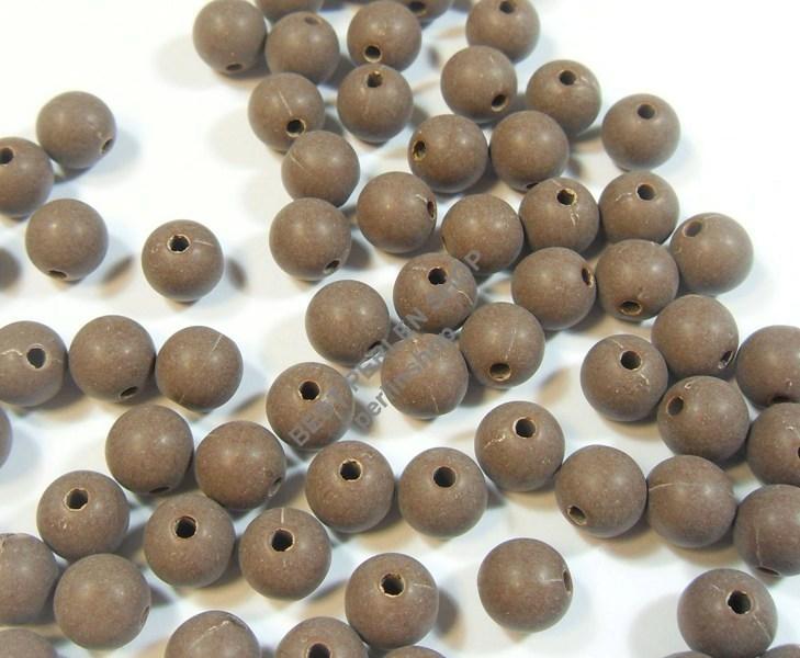 100 gefrostet zwischenperlen spacer plastik perlen 8mm best braun rund ac104 ebay - Ajax reload div ...