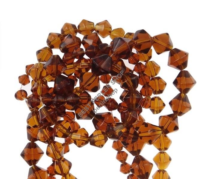 150 glasperlen best doppelkegel perlen rhomben braun glas. Black Bedroom Furniture Sets. Home Design Ideas