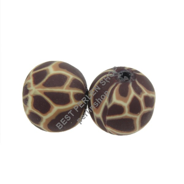 35 perle fimo BPS Animale Motivo Polymer Clay beads TONDO
