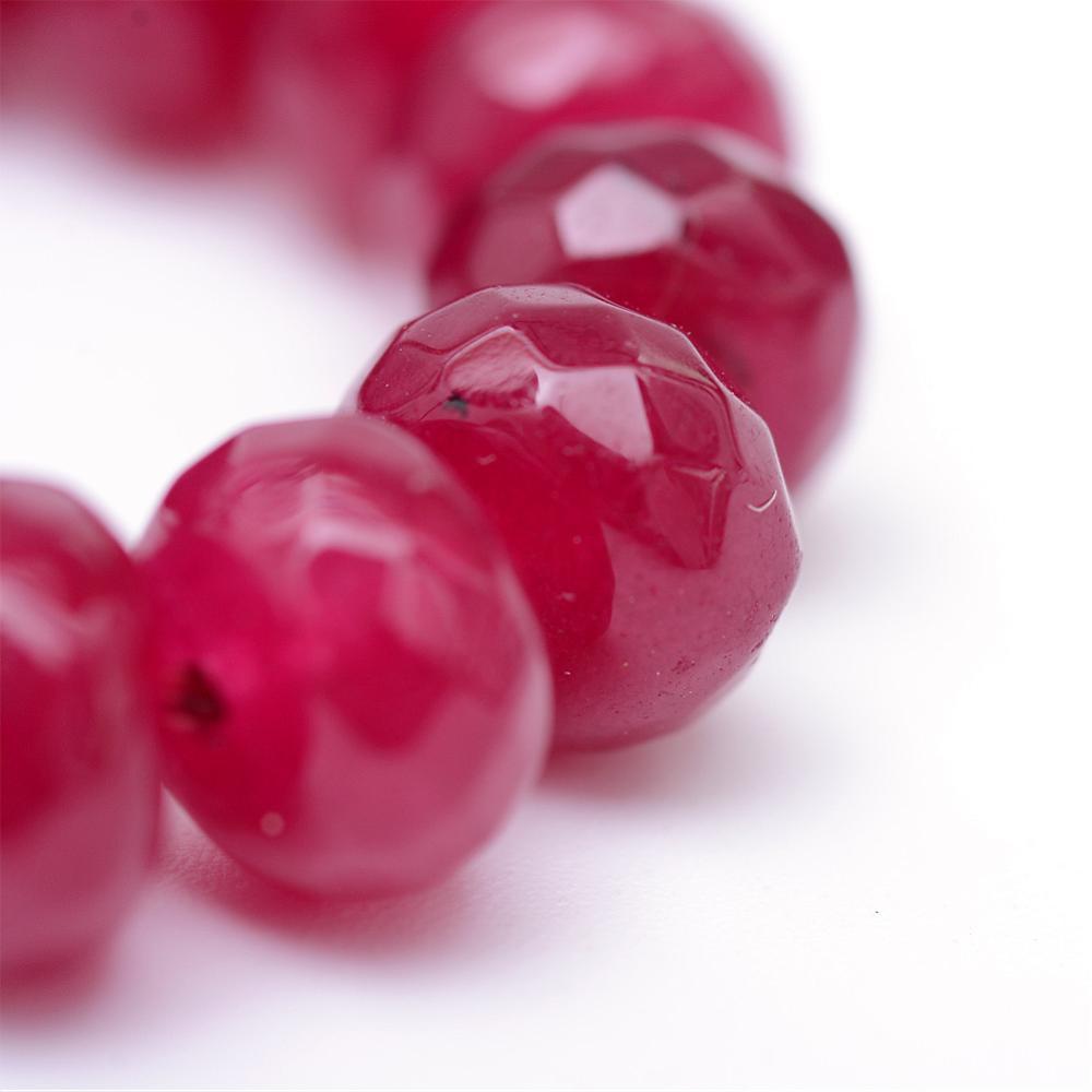 achat perlen edelsteine natural mm ruby rot rondell