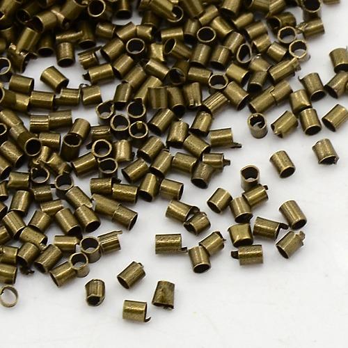250 quetschr hrchen 2mm bronze quetschperlen crimps endteile tube m129 ebay. Black Bedroom Furniture Sets. Home Design Ideas
