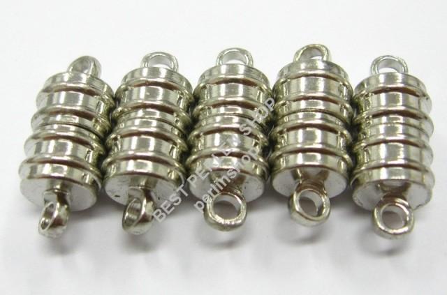magnet verschluss silber mm metall schmuck verschluesse