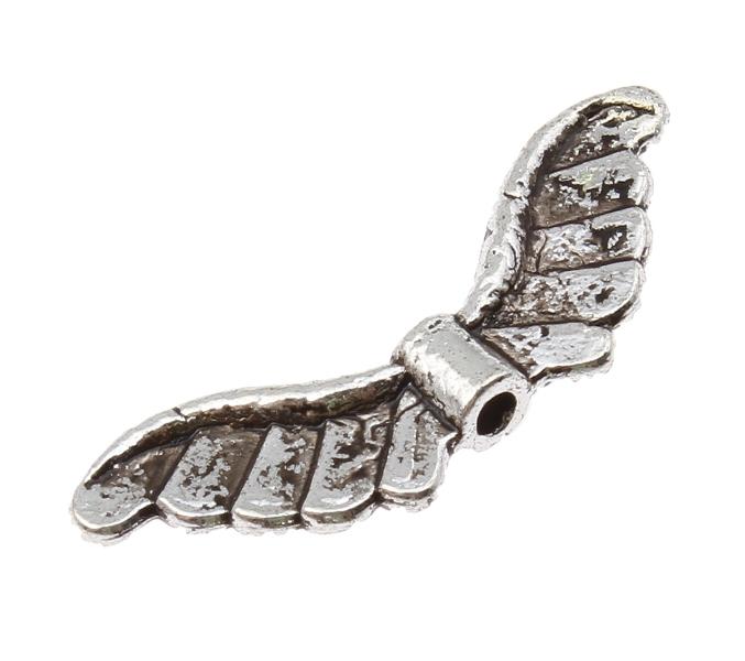 10 Angel Wings Metal Wings Beads 24mm metallspacer ...