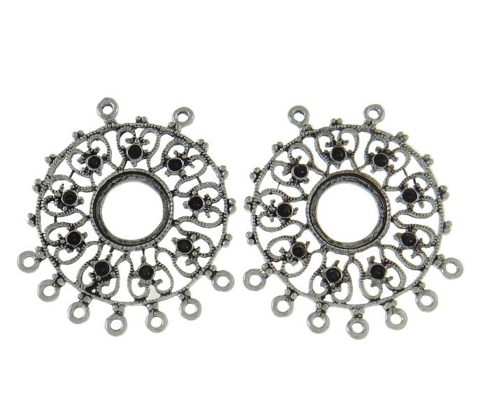 metallperlen crystal mehrfarbig strass ring metall
