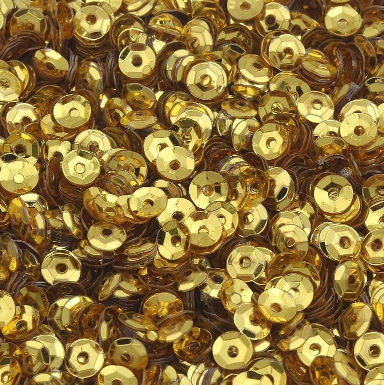 2400 Pailletten Ø 3mm Gold Gelb Gewölbt im Blister für Kleidung Schmuck PAI10