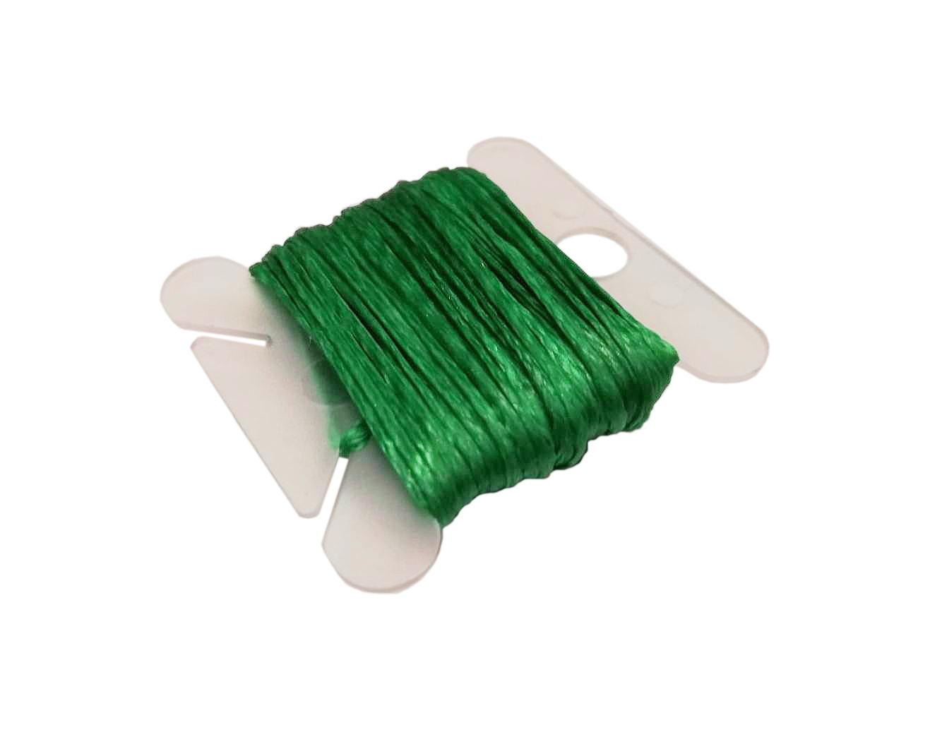Wachsband 1mm Sattlergarn Mint Grün Geflochtet 100/% Polyester Fäden C326