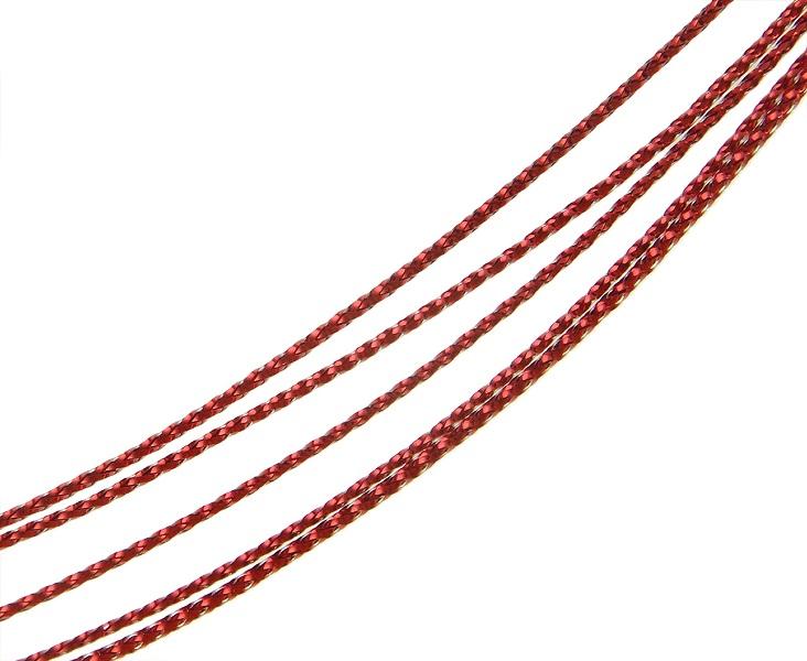 schmuckfaden schmuckschnur schmuckgarn best 50 meter rot yarn cord wire c57 ebay