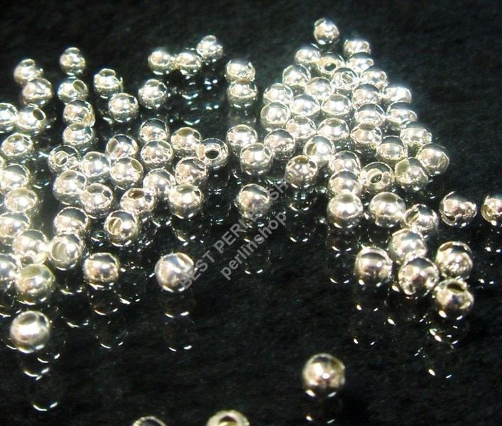 metallperlen zwischenteile spacer kugel mm silber fuer