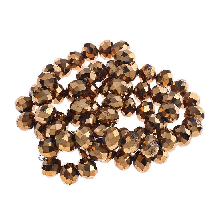 45 tschechische kristall glasperlen 10mm fire polished gold braun diy x69 3 ebay. Black Bedroom Furniture Sets. Home Design Ideas