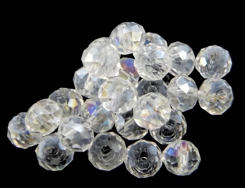 25 TSCHECHISCHE KRISTALL PERLEN GLASPERLEN 6mm * CRYSTALL